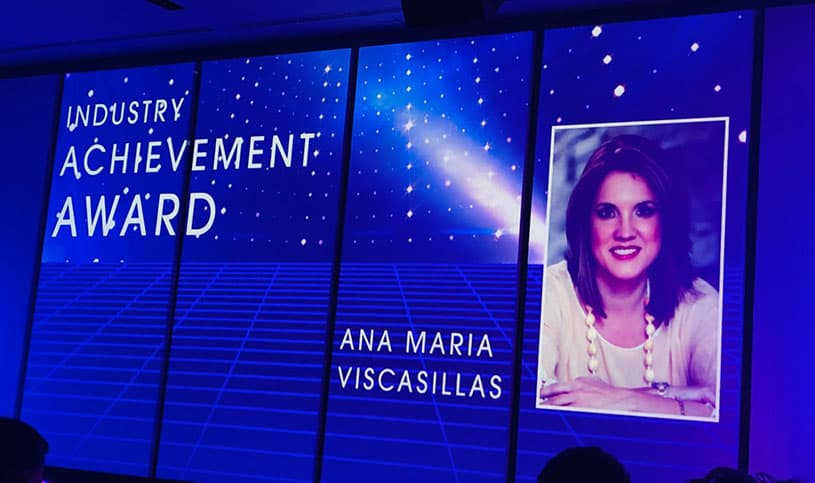 Ana María Viscasillas. Industry Achievement Award